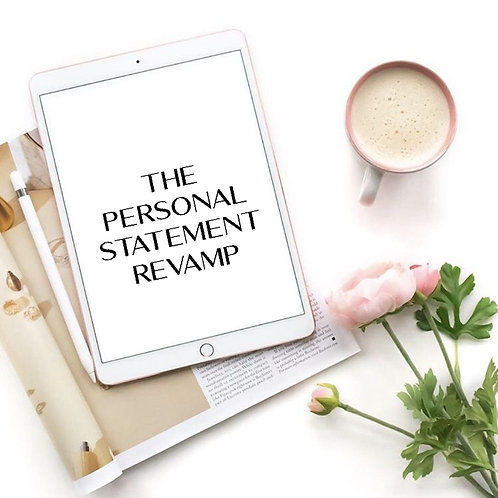 The Personal Statement Revamp