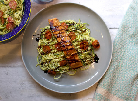 Miso Salmon and courgettie