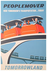 WEDWAY PeopleMover Attraction Poster