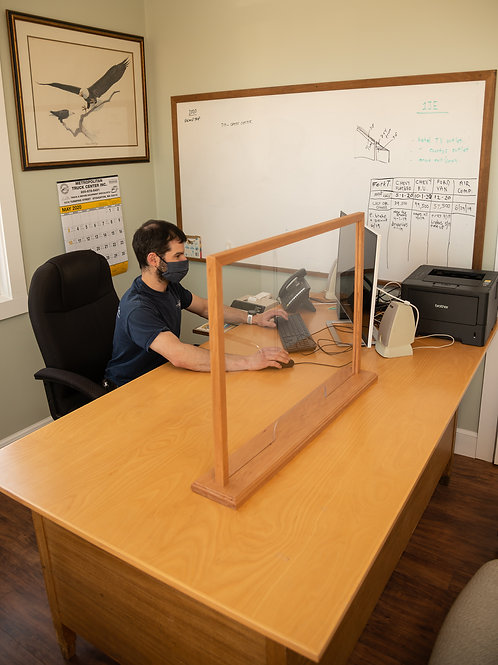 Hardwood Executive Desk Shield