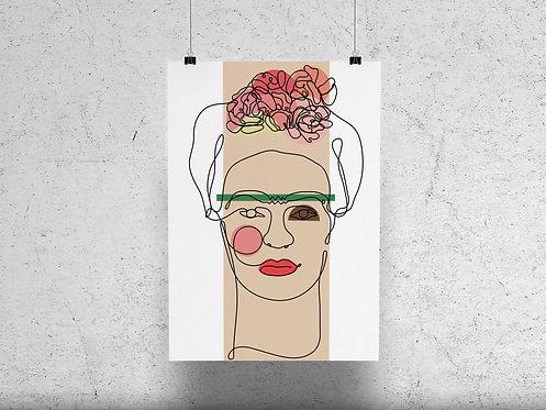 Lines of Frida Print