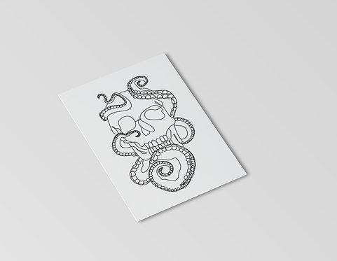 Octoskull Mini Print