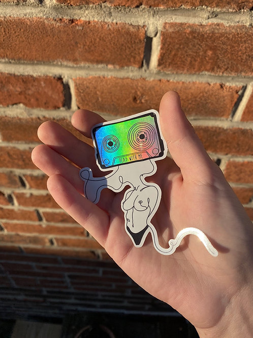 Play With Me Sticker