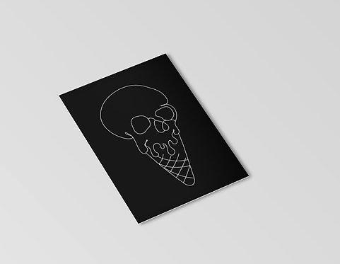 Skull Cone Mini Print