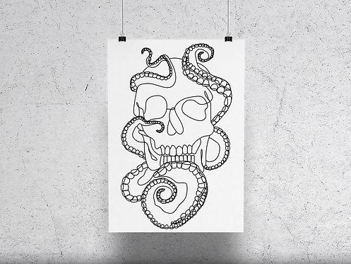 OctoSkull Print