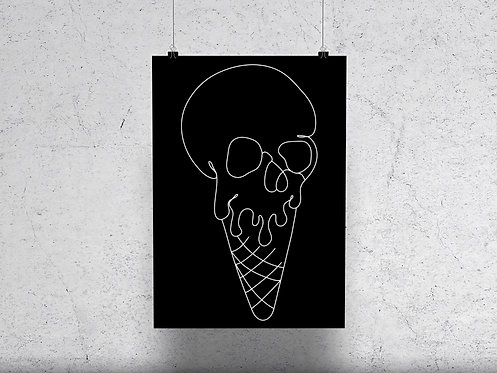 Skull Cone Print