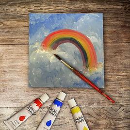 Karin Mear Rainbow Acrylic painting
