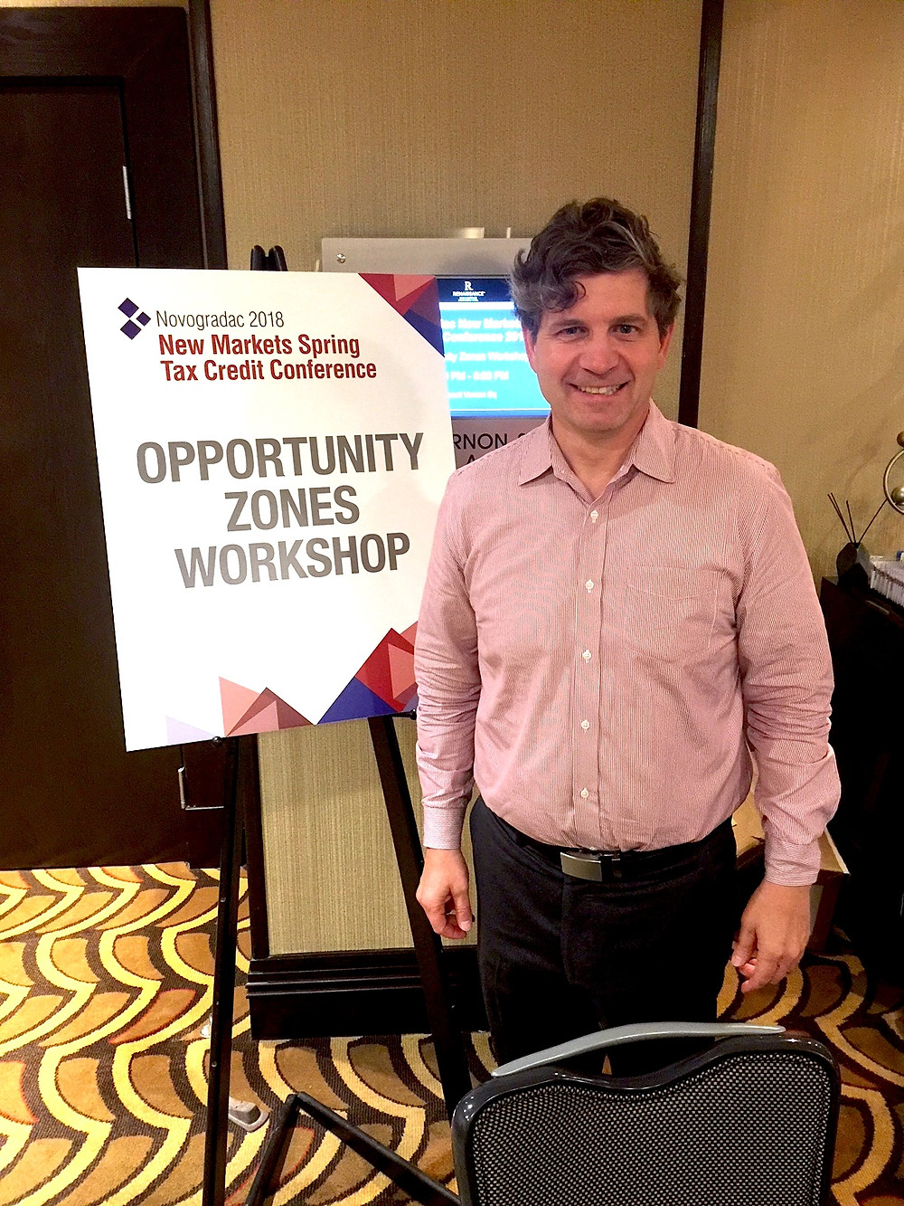 Joey Strength at the Opportunity Zones Workshop at the Novogradac 2018 New Markets Spring Tax Credit Conference