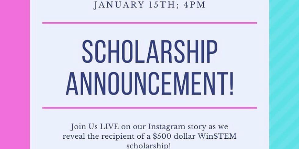 Scholarship Live Announcement