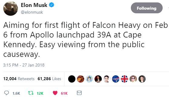 Falcon Heavy Announcement
