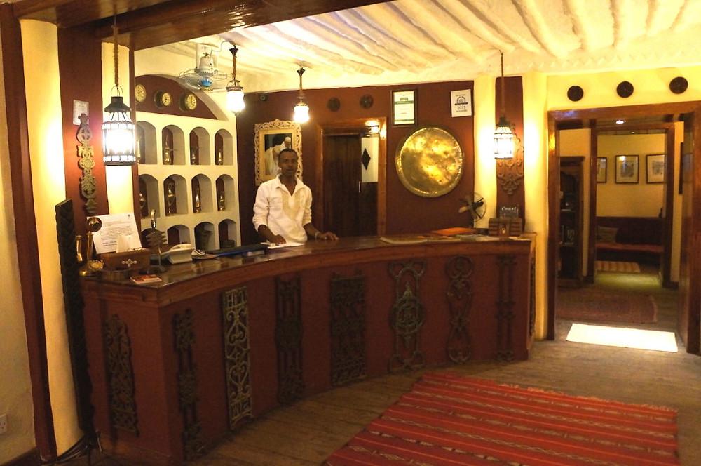 Zanzibar Jafferji Front desk