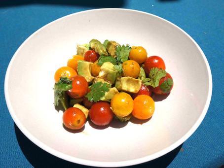 Tomato Avocado Cilantro Salad