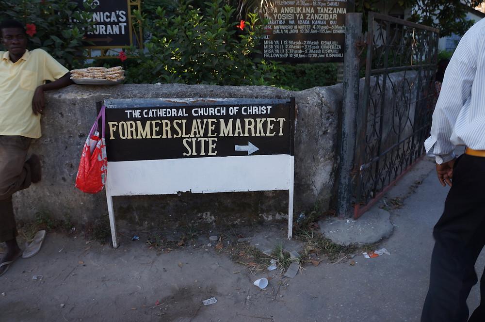 Zanzibar former slave market