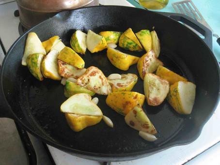 Baby Squash & Garlic Mid-Afternoon Snack