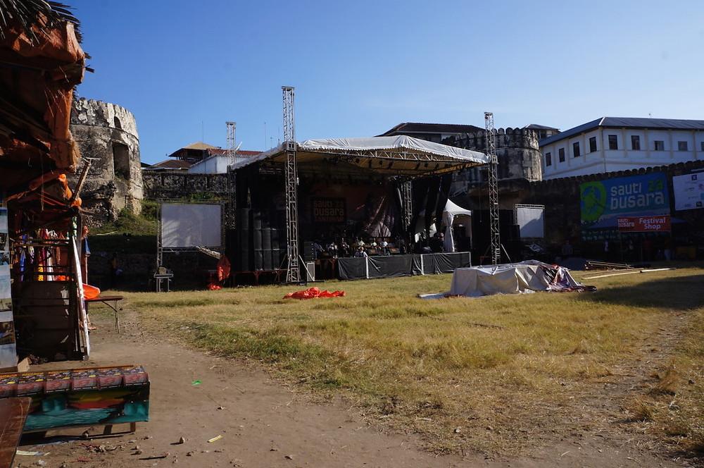 Zanzibar music fest stage