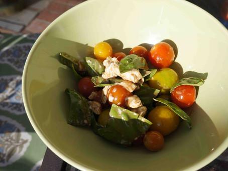 Tomato Basil Goat Cheese Salad