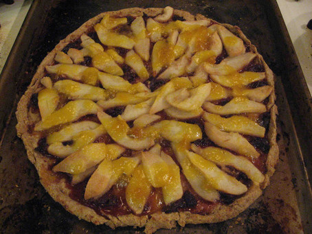 Pear & Berry Tart With Whole Wheat Crust