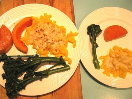Quinoa Pasta, Baby Broccoli and Butternut Squash Dinner