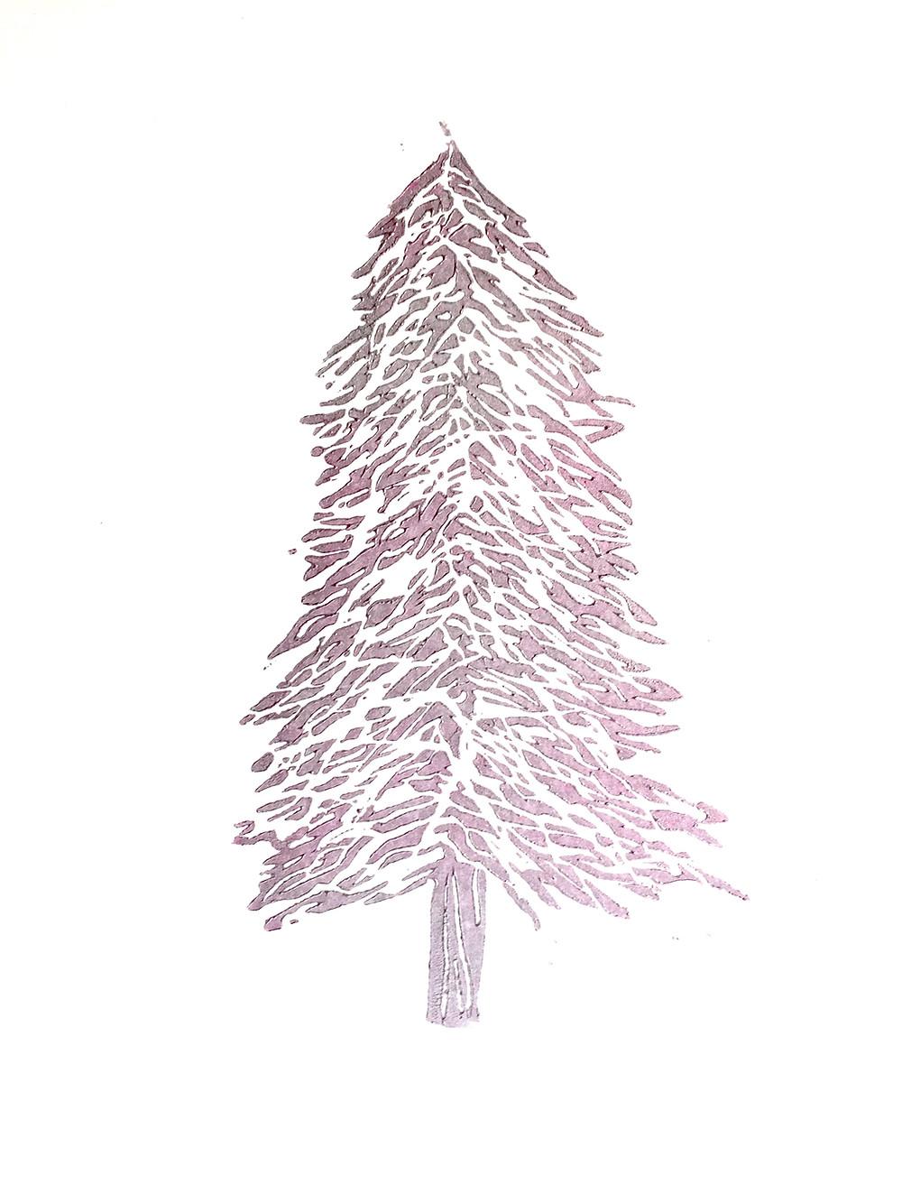 Silver Pink Christmas Tree