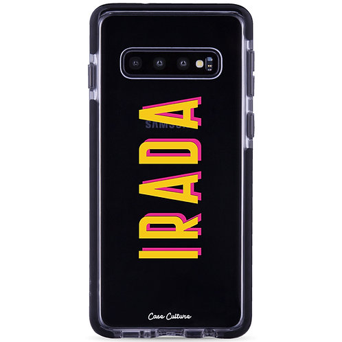 Name Case (Font M3-Yellow/Pink) - รุ่น Clear Guard