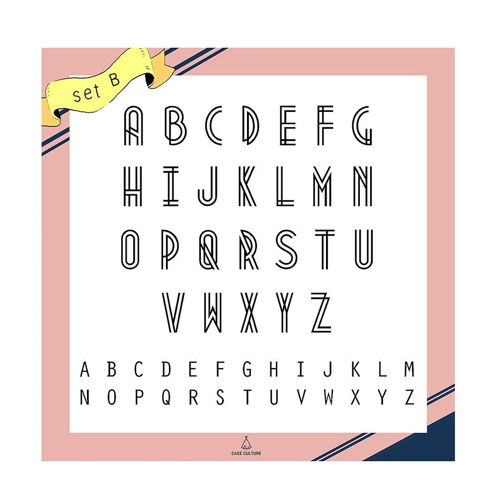 ตัวอย่างอักษร Set B