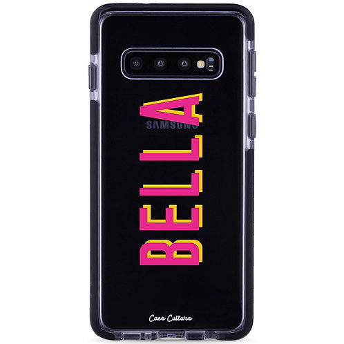 Name Case (Font M5-Pink/Yellow) - รุ่น Clear Guard