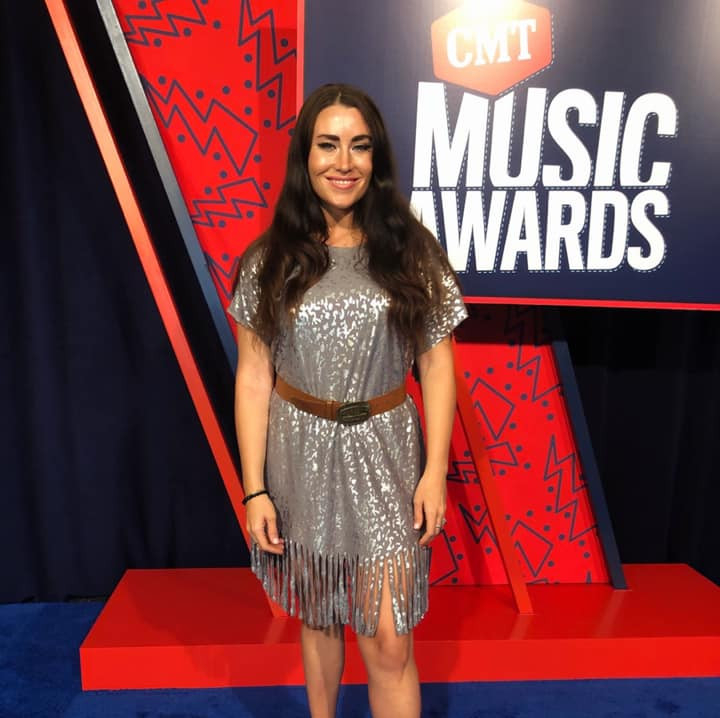 Mary O'Neill Phillips and 2019 CMT MUSIC AWARDS RED CARPET HOSTING