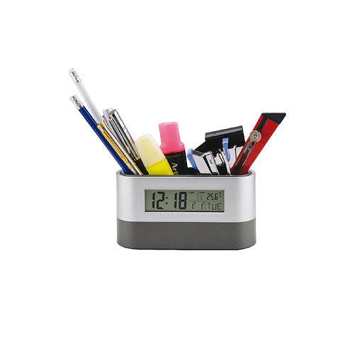 LED CLOCK WITH PEN POT