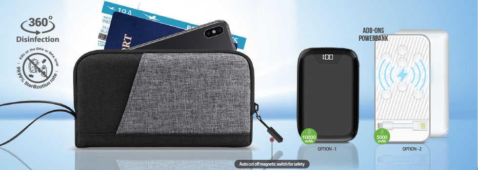 UV Travel / Portable sanitizing wallet