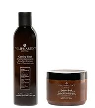 Calming Wash Shampoo Detossinante e Purifying Scrub Scrub Purificante e Detossinante