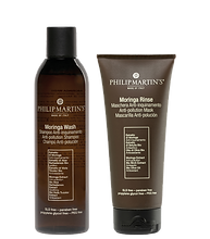 Moringa Wash Shampoo Anti-inquinamento e Moringa Rinse Maschera Anti-inquinamento