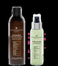 Moringa Wash Shampoo Anti-inqunamento e Pleasure Hair & Body Spray Idratante