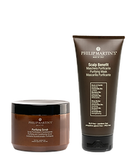 Purifying Scrub Detoxifying and cleansing scrub and Scalp Benefit Purifying Mask