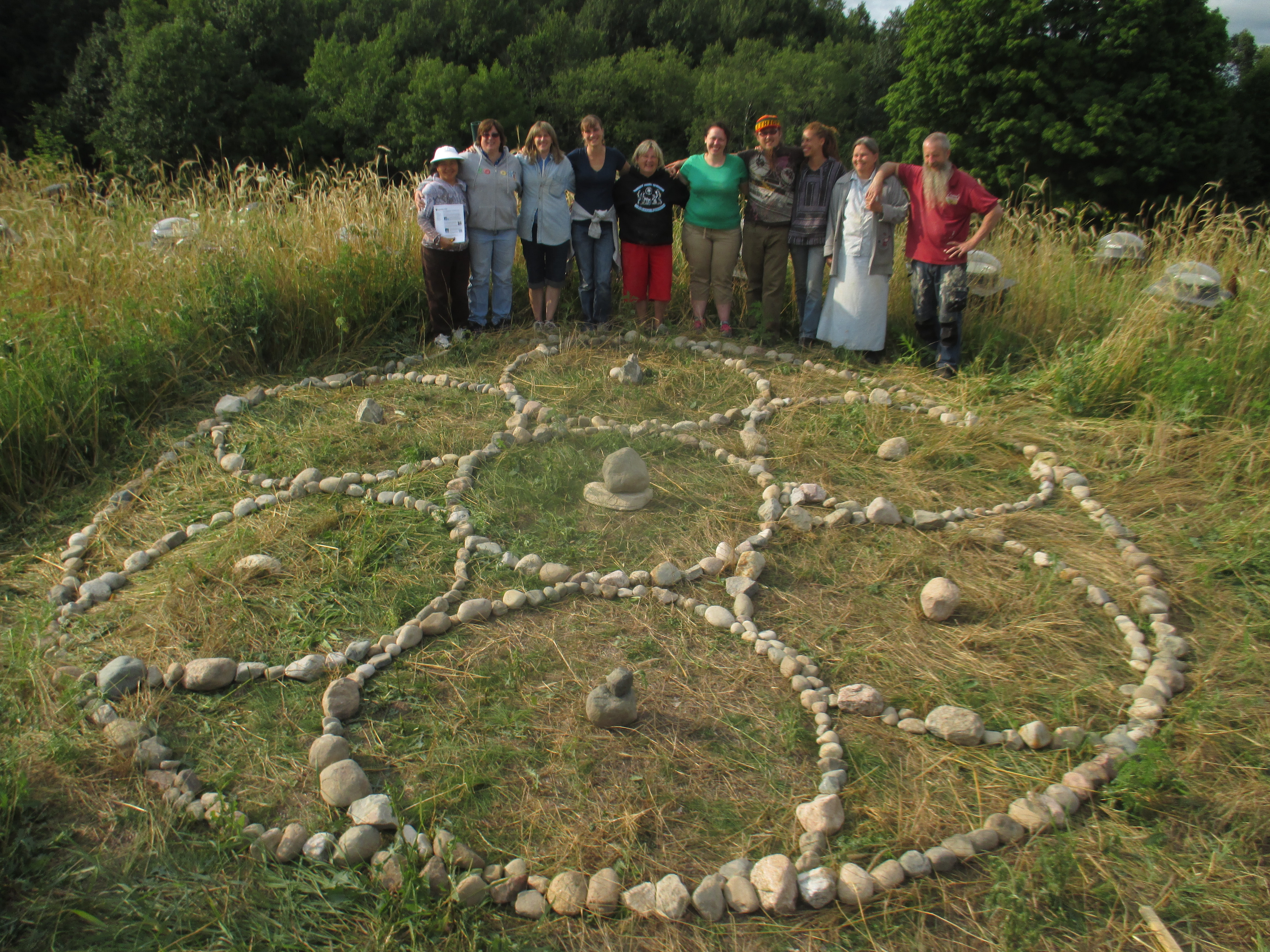 Sacred Circle on the Barn Roof!