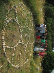 Sacred Circle on the Barn Roof!