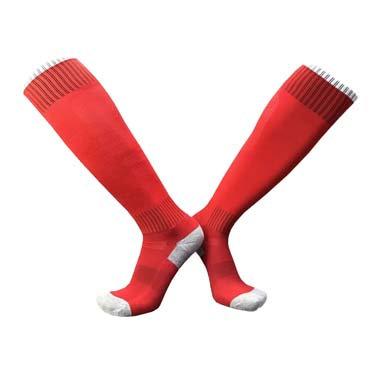 גרבי ספורט גבוהות איכותיות אדום/לבן