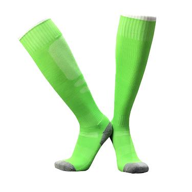גרבי ספורט גבוהות איכותיות ירוק תפוח/לבן