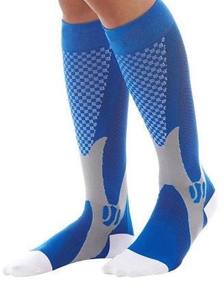גרבי ספורט גבוהות איכותיות כחול/אפור