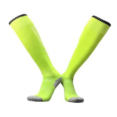 גרבי ספורט גבוהות איכותיות צהוב זוהר/שחור