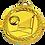"""Thumbnail: מדליה זהב קוטר 5 ס""""מ סטנדרטי"""