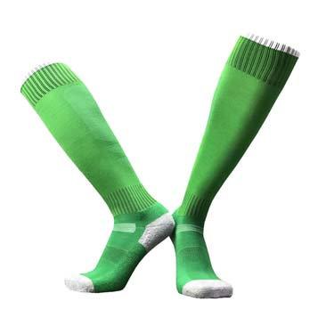 גרבי ספורט גבוהות איכותיות ירוק/לבן
