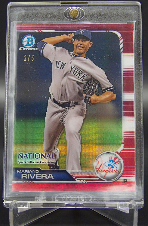 2019 Bowman Chrome National Mariano Rivera Red Refractor #'d /5