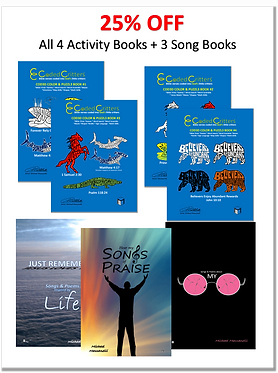 4 Activity + 3 Song/Poem Books