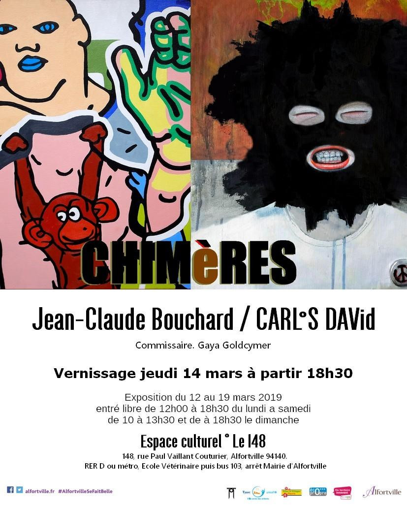 The artists Jean-Claude Bouchard and Carlos David had a Exhibition of they art work  in Paris  during the month of March in Espace Culturel  in Alfortville