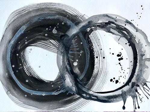 Indissoluble bond  by Mona Moon Art Print abstract Original watercolour