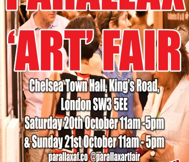 The Twenty-third Edition of Parallax 'Art' Fair Opens October 20-21 at Chelsea Town Hall