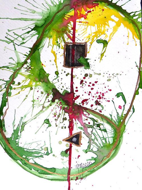 Polarity by Mona Moon Art Print figurative Original watercolour