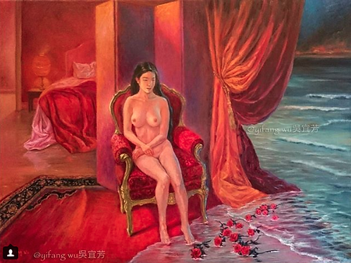 Yifang Wu - Art Print Figurative Original painting on canvas