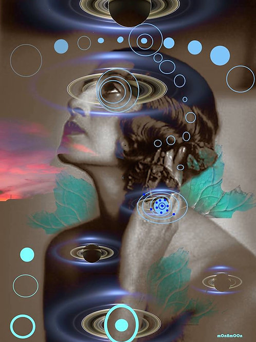 Cosmic by mOnAmOOn Art Print Figurative Original Digital  Collage