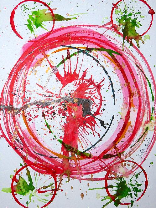 Circle by Mona Moon Art Print abstract Original watercolour